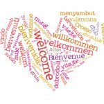 welcome word cloud heart